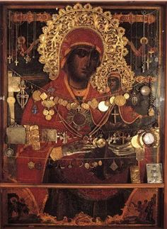 Byzantine Icons, Byzantine Art, Religious Icons, Religious Art, Archangel Raphael, Queen Of Heaven, Holy Mary, Madonna And Child, Art Icon