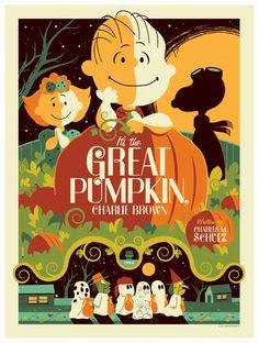 peanuts: great pumpkin poster