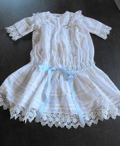 Victorian Child's Dress from   ~FRENCH VINTAGE LINENS AND ANTIQUES~  Where you will find Beautiful & Unusual   French Antique & Vintage Linens  & Antique & Vintage Decorative Items for your Home    We have a wide range of Fine Bed Linens, Table Linens, French & English Christening Gowns, Baby & Children's Apparel, & many 'Brocante' items.  Click on the image to see this item & visit our Etsy Shop at  www.Etsy.com/shop/Vintagefrenchlinens  Welcome…et Bienvenue!