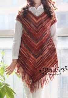 Poncho sweater pattern by Addi Crochet Poncho Patterns, Crochet Shawls And Wraps, Crochet Cardigan, Poncho Sweater, Diy Crochet, Crochet Top, Crochet Hats, Crochet Fashion, Beautiful Crochet