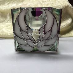 Angel Wing Candle Shelter in Stained Glass Candle Holders