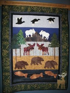 OUTDOORS MAN QUILT.............PC