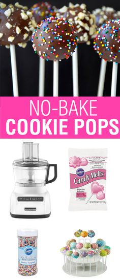 How to Make No-Bake Cookie Pops   #recipe #cookies