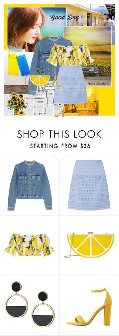 """""""Summer Sunshine"""" by rainie-minnie ❤ liked on Polyvore featuring Acne Studios, Lipsy, Dolce&Gabbana, Jessica McClintock, Kate Spade and Charlotte Russe"""