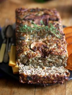 Nut loaf: Can use walnuts, almonds, pine nuts, chickpeas.