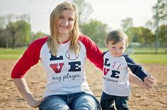 Adorable mommy & me baseball outfits for boys and girls.