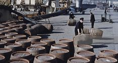 Barrels of Guinness on a Custom House quay Dublin, June Republic Of Ireland, The Republic, Old Pictures, Old Photos, Photo Engraving, Dublin City, Kingdom Of Great Britain, Dublin Ireland, Barrels