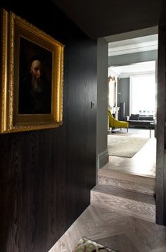 The major refurbishment of a stucco-fronted terraced house in central London. The work focused on the qualities imparted by materials on the spaces they inhabit Brown Interior, Interior Styling, Interior And Exterior, Interior Decorating, Interior Design, Dark Interiors, Wood Interiors, Industrial Interiors, Masculine Interior