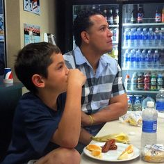 at breakfast with Joba's son, Karter (9/20/14)