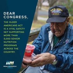 """""""We're celebrating the 50th Anniversary of the Older Americans Act that was signed by President Lyndon B. Johnson in 1965 to provide much-needed services, like Meals on Wheels, to our seniors."""" via Meals and Wheels. (click through to read more)"""