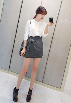 Ribbon Mini Skirt from miamasvin.net // $52.00