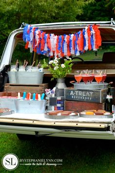 Tailgate Ice Cream Party - this gal is a genius when it comes to theming and components.  Man oh man, wish I was her neighbor!