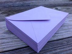 50 A7 Light Purple Envelopes Lavender Plum  5x7 by SEEDInvites