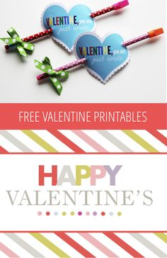 10 Adorable Free Valentine Printables! Every kid loves pencils!