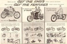 1958 Harley-Davidson 16'' x 20'' Matted Vintage Motorcycle Ad Art Poster