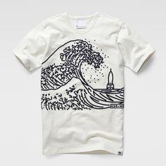 G-Star RAW   Men   T-shirts   Marc Newson Wave T-shirt , Light Chalk