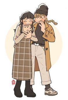 Cute Art Styles, Cartoon Art Styles, Kawaii Art, Anime Kawaii, Art Drawings Sketches, Cool Drawings, Art Reference Poses, Pretty Art, Character Design Inspiration