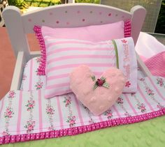 "Doll Bedding--will work for 18"" American Girl doll."