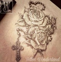 by & by by & by Colour Realism Arm Tattoo Tattoo Wrist Rosary 27 Trendy Ideas Jen specialises in colour realism tattoos that focus on nature and anim. Rosary Tattoo On Hand, Rosary Foot Tattoos, Rosary Bead Tattoo, Rose Tattoos, Body Art Tattoos, Hand Tattoos, Sleeve Tattoos, Tatoos, Garter Tattoos