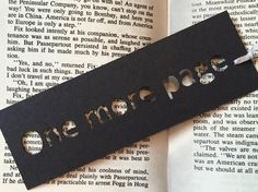 Handmade bookmark, Small gifts, One more page, Gifts for bookworms, book lovers, fun gifts, coworker gift ideas