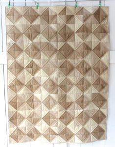 This is my last quilt for 2016. It's something I wanted to make for a while – a quilt that matches our bedroom colors. It's a nice throw size for when you want to take a nap bac…