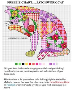 Cross-stitch Patchwork Cat