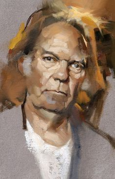 Neil Young by painter Gregory Manchess Figure Painting, Painting & Drawing, Rock Painting, Heavy Metal, Neil Young, Portrait Art, Portrait Paintings, Figurative Art, Contemporary Artists