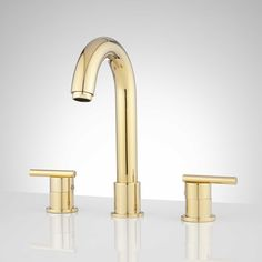 $154 Polished Brass - Lester Widespread Bathroom Faucet