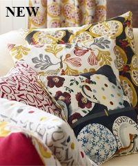 Sanderson's Emma Bridgewater Fabric at British Wallpapers Cosy Corner, Emma Bridgewater, Pottery Designs, Ski, Stamping, Bed Pillows, Interior Decorating, Fabrics, British
