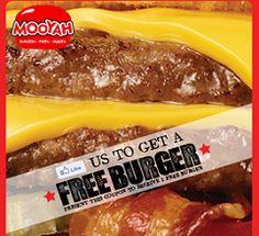 FREE Hamburger at Mooyah on http://hunt4freebies.com