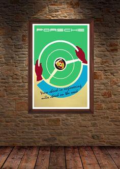 Porsche Ad 1960's by GarageFabro on Etsy https://www.etsy.com/listing/233179276/porsche-ad-1960s