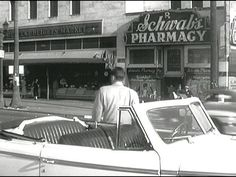 """""""Sunset Boulevard""""- Schawb's Pharmacy. Schwab's was a very popular hangout with the early Hollywood crowd, especially with writers, actors, and other creative types. Holden's character is seen going into Schwab's a couple times in the film."""