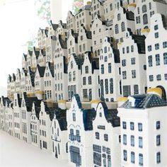 KLM Huisjes (Houses) given away on flights.