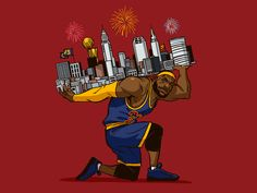 LeBron James illustration for Bleacher Report by Michael B. Myers Jr. #Design Popular #Dribbble #shots