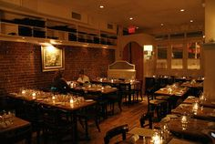Bianca.  East Village.  Wine on tap and the most reasonably priced Italian food.