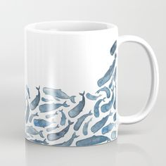 Available in 11 and 15 ounce sizes, our premium ceramic coffee mugs feature wrap-around art and large handles for easy gripping. Dishwasher and microwave safe, these cool coffee mugs will be your new favorite way to consume hot or cold beverages. Blue Coffee Mugs, Tea Mugs, Coffee Cups, Pottery Painting, Ceramic Painting, Painted Mugs, Painted Fish, Hand Painted, Cool Mugs