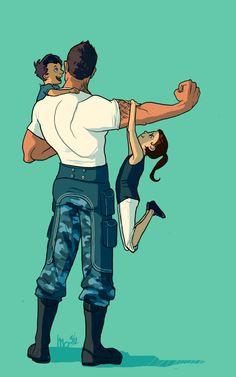 Repostan: Bambinos by tuquerouge.deviantart.com #JamesVega #MassEffect