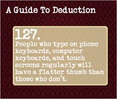 A Guide To Deduction ((haven't had a new one of these in a while... YAY!))