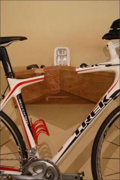 Handcrafted Wood Bike Rack, Bike Storage, Apartment Bicycle Wall Hanging, Small Space Bicycle Storage, Bike Accessories, Bike Buff Gift