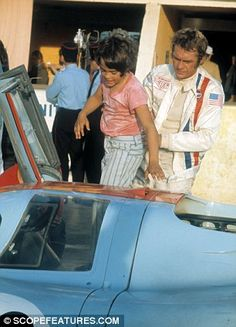 Chad McQueen getting lifted into a Ford GT40 by his father who he said he idolised despite his faults