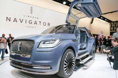 Lincoln Navigator Concept On Show Floor Front Side View Door Open