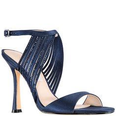 ee9e39c5d7e DAMARIS-NEW NAVY SATIN Blue Sandals
