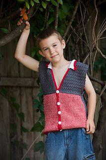3 Boys & A Ball of Yarn Crochet Pattern Textured Cotton Vest http://3boysandaballofyarn.blogspot.com/