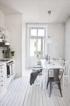 white and rustic kitchen