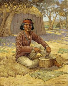 Navajo Silversmith by carl moon DATE: ca. 1937-1943 Smithsonian American Art Museum - Oil on canvas
