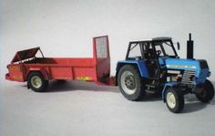 Zetor Crystal 8011 Tractor with Trailer Free Vehicle Paper Model Download