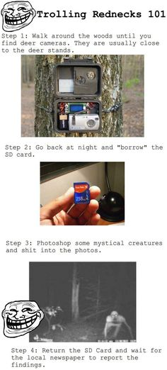 Trolling the Hunters. ahhhhhahahahahaha!!!! this is TOTALLY something i'd do.: