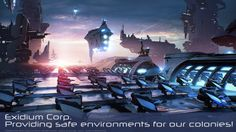 Check this colorful selection of artworks made for Exidium Corp, Galactic leader of planet colonization :-)