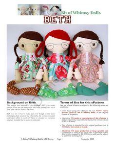 Beth Doll. Free pattern