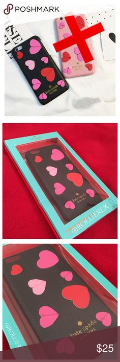 Kate Spade 3D ❤Case This case is perfect to give for the one you love with its 3D hearts of red and pink. Black backdrop and middle stitched hearts. Some scratches on the outside of the box, but case is in perfect condition. Brand new, never used. February 14 is right around the corner! kate spade Accessories Phone Cases